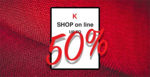 Up to 50% off our 1st quality fabrics